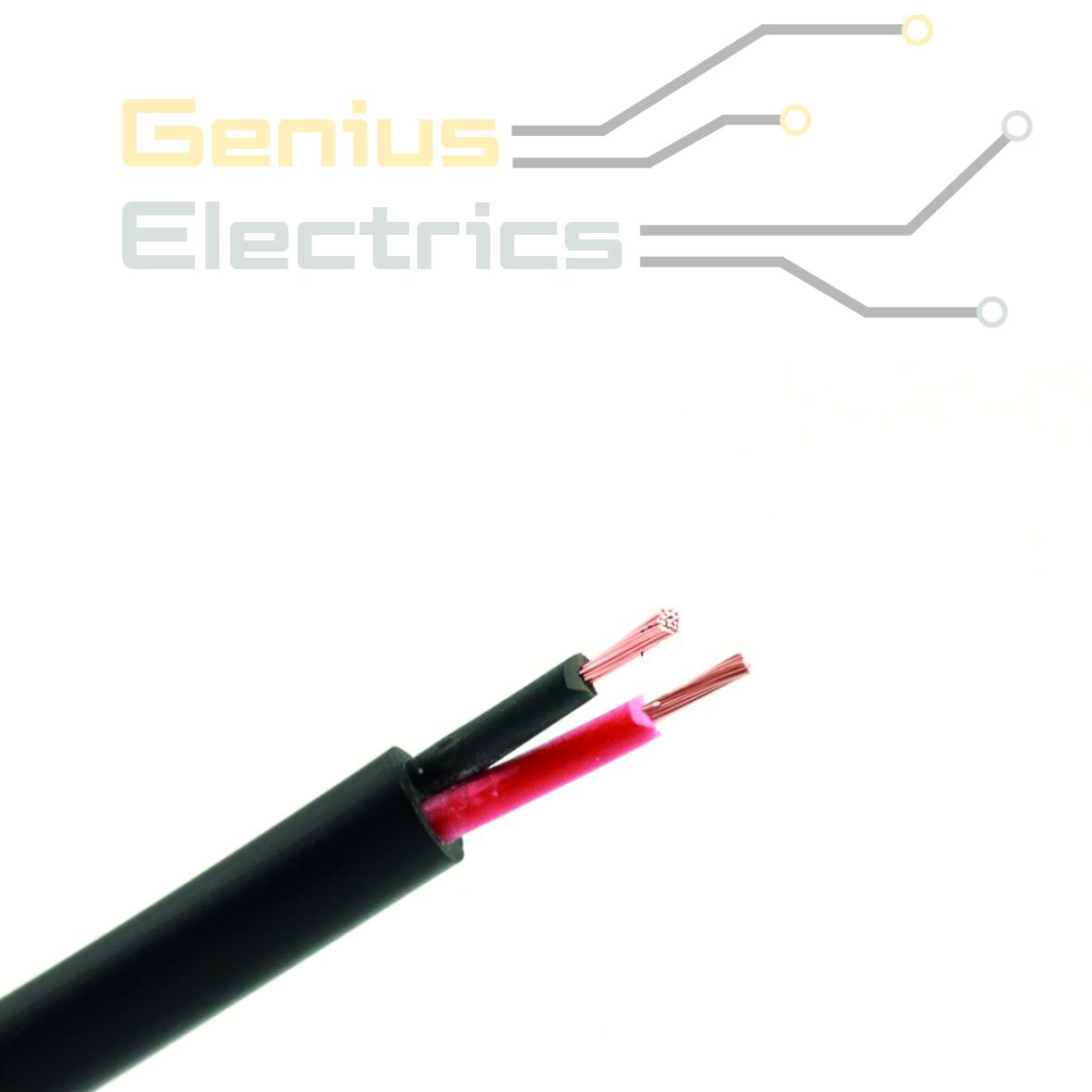 Onwijs Meeraderige kabel 2x1.0mm² ROND - Genius Electrics KW-76