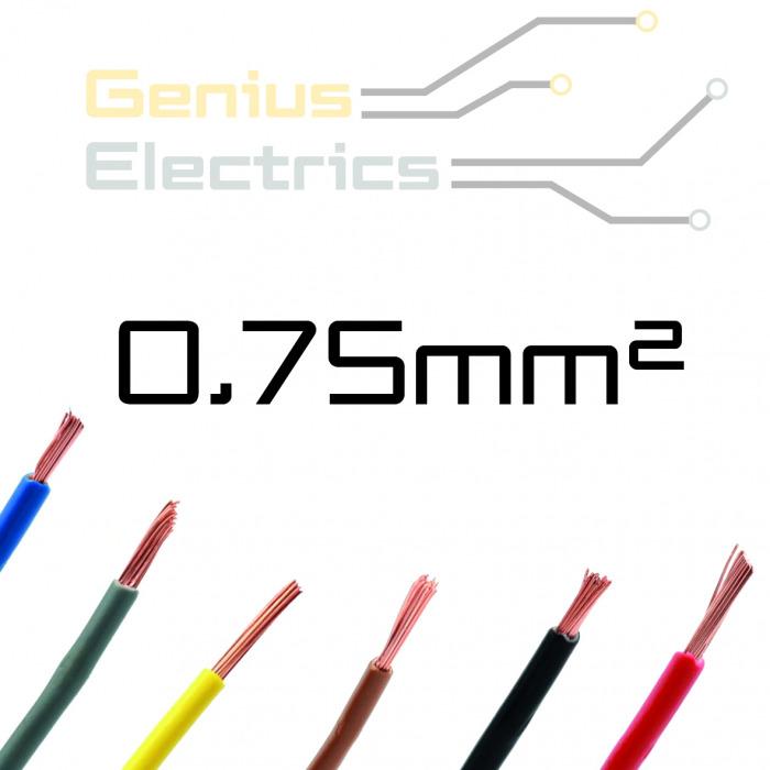Enkel aderig kabel 0,75 mm²