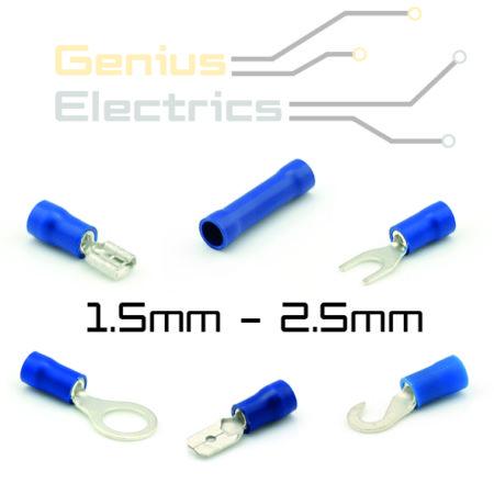 Blauwe geïsoleerde kabelschoen 1.5-2.5mm²