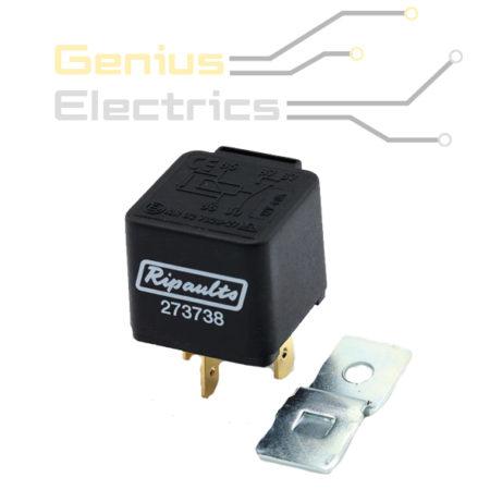 mini wissel relais 24v 10 20amp 5 polig met weerstand genius electrics. Black Bedroom Furniture Sets. Home Design Ideas