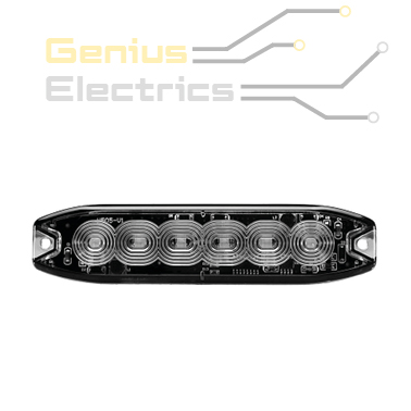 Led flitser ece r65 slim 6led dun